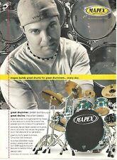 Jordan Burns, Strungout, Mapex Drums, Full Page Promotional Ad
