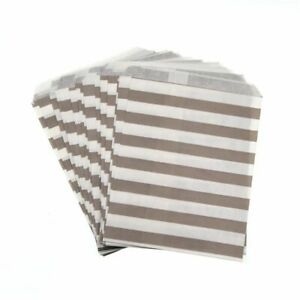 Birthday Gifts Packaging Paper Bags Stripe Kraft Papers Parties Supplies 100pcs