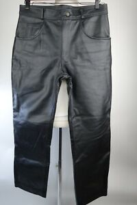 Elements Motorcycle Leather Pants Straight Fit Men Size 34 x 29