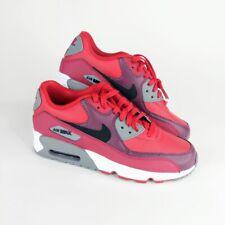 Nike Boys Size 7Y Red Black Air Max 90 833412-601 Running Sports Athletics Retro