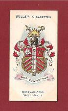 WEST HAM Coat of Arms LONDON BOROUGH 1905 original print vintage card