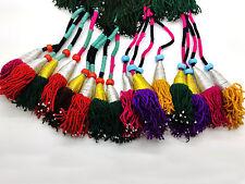 "2 PAIR Big 14""Uzbek Tassels Lush Colorful Traditional Taashqorghani Uzbekistan"