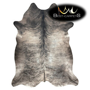 AMAZING artifical Cowhide Rug Animal Cow printed grey beige Large size Carpet