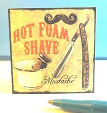 Miniature Hot Foam Shave Sign : Dollhouse S122-2