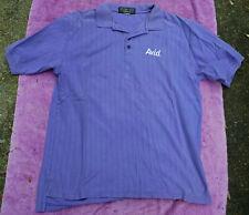 Vintage Mens Avid Pro Audio / Video Equipment Purple Short Sleeve Polo Shirt Xl