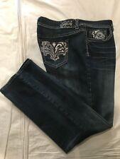 (*-*) HYDRAULIC JEANS * Womens BAILEY Bootcut Blue Jeans / Denim * Plus Size 22