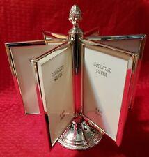 Godinger Silver Plated Carousel Revolving 6 Photo Frames Display 12ea 4x6 Photos