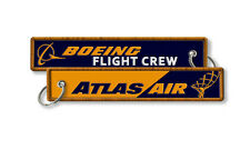 Atlas Airlines Boeing- Flight Crew Baggage embroidered tags x2