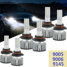 For Chrysler Sebring 07-09 6x 9005 9006 9145 LED Headlight Fog Light Combo Bulbs