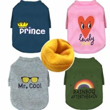 Fleece Dog Cat Clothes Jacket Clothing Puppies Printed Outfit Attire Accessories