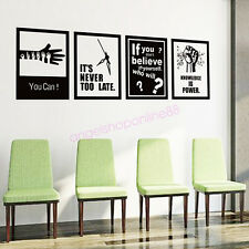 Bedroom Training School Office New DIY Removable Mural Wall Sticker Vinyl Decal