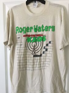 Rare and Vintage Roger Water's after the wall kaos tour shirt. Authentic 1980's!