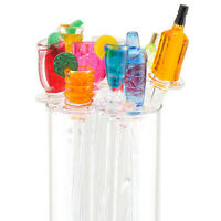 """20 PINEAPPLE Fruit 9.5/"""" Tall Acrylic TROPICAL DRINK Cocktail Swizzle STIRRERS"""
