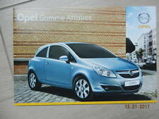 Catalogue Opel gamme affaires avril 2008