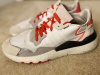 adidas Men's NITE JOGGER Running Shoes [WHITE/GREY/RED] (F34123) Size: 12