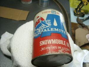1970s Vintage ALEMITE Snowmobile Oil Tin