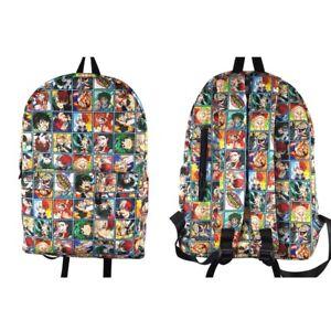 My Hero Academia nylon cartoon Backpack School Bag Satchel Travel Camping Bags