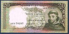 PORTUGAL - 20 ESCUDOS Pick n° 167.a du 20 mai 1964 en SUP AKN 70247 ch.7