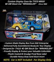 Custom Display Case: TYCO #8920 Earnhardt GM Stocker WRANGLER #2  '82 (Nice Box)