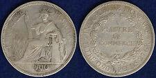 INDOCINA FRANCESE 1 PIASTRA ARGENTO 1900 #1590