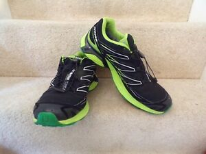 SALOMON Wings Flyte Mountain Trail Mens GTX Men Shoes Black Trainers Size 12 Uk
