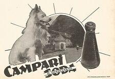 W9480 CAMPARI Soda il dissetante - Pubblicità 1937 - Old advertising
