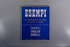 Aloi, Tavoli Tavolini Carrelli tables 1950 Eames Ponti Wohnbedarf Zanuso
