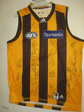 HAWTHORN 2014 PREMIERS TEAM HAND SIGNED JERSEY UNFRAMED +PHOTO PROOF +COA