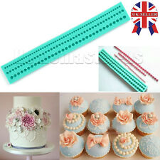 Pearl String Beads Silicone Mold Cake Decoration Fondant Sugarcraft Baking Mould