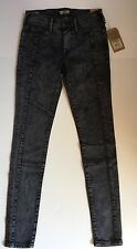 NWT TRUE RELIGION JEANS $248 HALLE SUPER SKINNY MOTO IN MSS OBSTRUCTION SZ 25