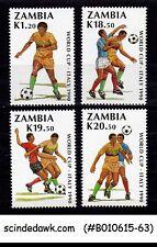 ZAMBIA - 1990 WORLD CUP FOOTBALL CHAMPIONSHIP - 4V - MINT NH