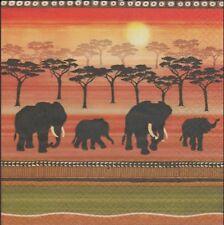 2 Serviettes en papier Savane éléphant Afrique Paper Napkins African Spirit