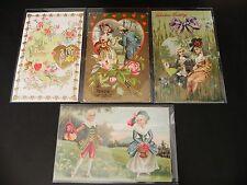 POSTCARD Valentine Vintage Postcard Lot HEART LOVE CUPID BRISTOL GERMANY HATS