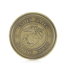 Gold Plated Put On Armor Of God Marine Corps Helmet of Salvation Challenge Coin