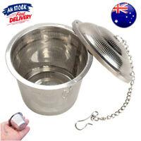 304 Stainless Steel Tea Mesh Ball Herbal Infuser Tea Strainer Filter Hot AU