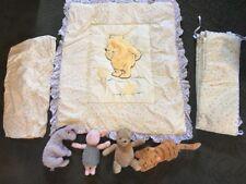 Winnie the Pooh Crib Set and Gund Classic Stuffed Animals Comforter Sheet Bumper