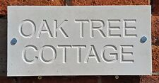Deeply engraved Limestone house sign 400mm x 200mm Honed  finish