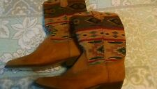 Seychelles Leather and fabric cow boy boots