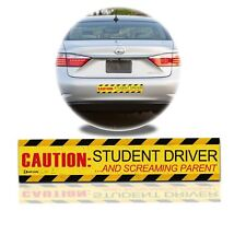 Zento Deals Funny Bumper Caution Student Driver and Screaming Parent Car Magnet