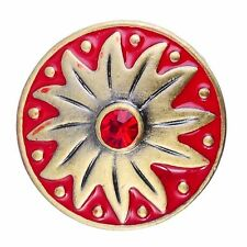 Noosa Chunks Ginger Style Snap Button Charms Red Star Burst 20mm NEW