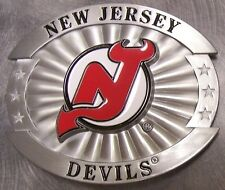 NHL Pewter Belt Buckle New Jersey Devils NEW Siskiyou National Hockey League