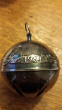 Wallace 1984 Silver Plate Bell/Ornament - 8 available