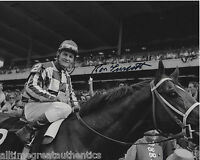 RACE HORSE JOCKEY RON TURCOTTE SIGNED 1973 TRIPLE 8X10 PHOTO B w/COA SECRETARIAT