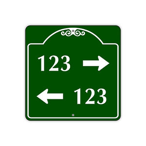 """123 Left And Right Directional Arrows Custom Novelty Aluminum Metal 12""""x12"""" Sign"""