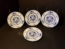 Christina ~ Dresden Classics Blue onion ~Bread Plate ~ Seltmann Weiden~ SET of 4