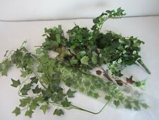 Lot of 4 bunches of Artifical Silk Fabric Floral Ivy Type Leaves Greenry Crafts