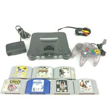 Nintendo 64  Console Bundle W/ 7 Games 1 Controller All Cords Tested Working N64