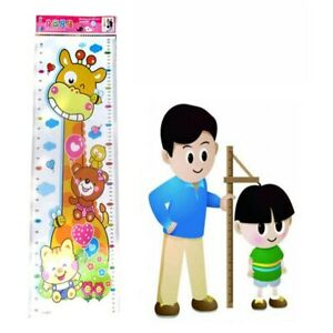 Children Wall Sticker Growth Measure Room Decor Kid Giraffe Animal Height Chart