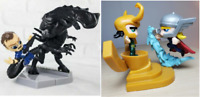 Lot of 4 Thor Vs Loki Marvel Queen Takes Bishop Aliens Figures Unique action