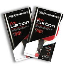 Stiga Set of 2 Pro Carbon Premium Ping Pong Table Tennis Paddles